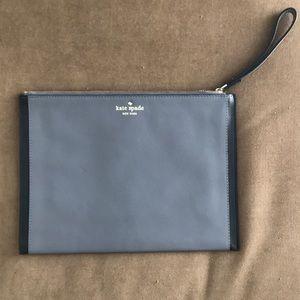 Kate spade leather grey envelope clutch
